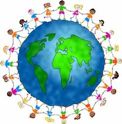 social studies clipart world with people