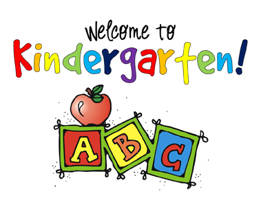Welcome to Kindergarten sign with ABC blocks!