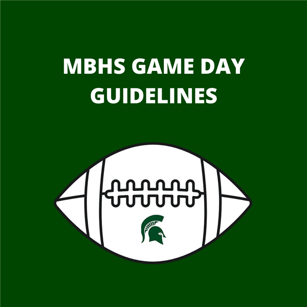 MBHS Game Day Guidelines Graphic
