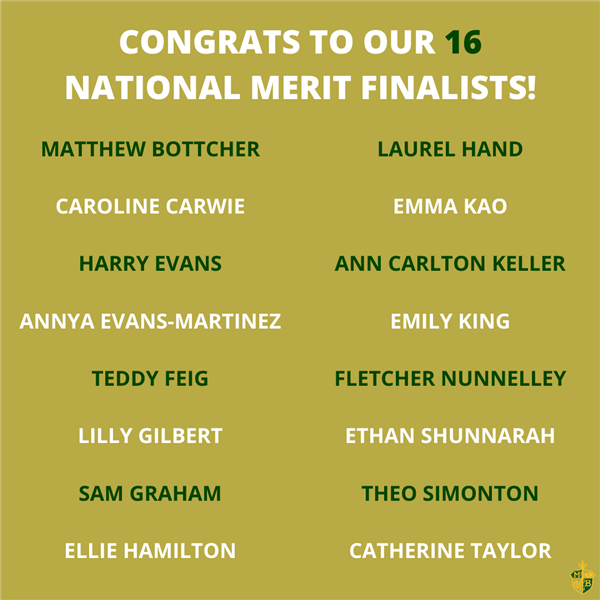 16 MBHS seniors named National Merit Semifinalists