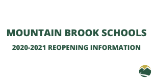 Mountain Brook Schools Reopening Information Graphic
