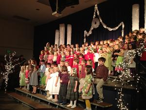 K-2 students perform in the winter concert
