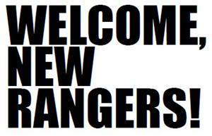 Welcome New Rangers