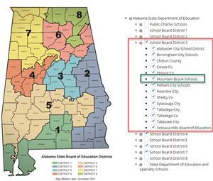 Mountain Brook School District 3 within Teach In Alabama