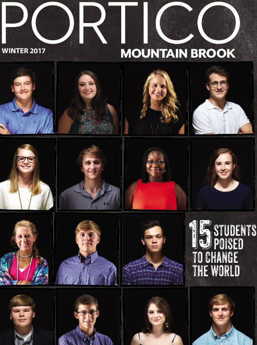 MBHS Students Featured in Portico: Several Mountain Brook students set to change the world, says lo